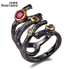 Женское готическое ажурное кольцо dreamcarnival 1989 винтажное