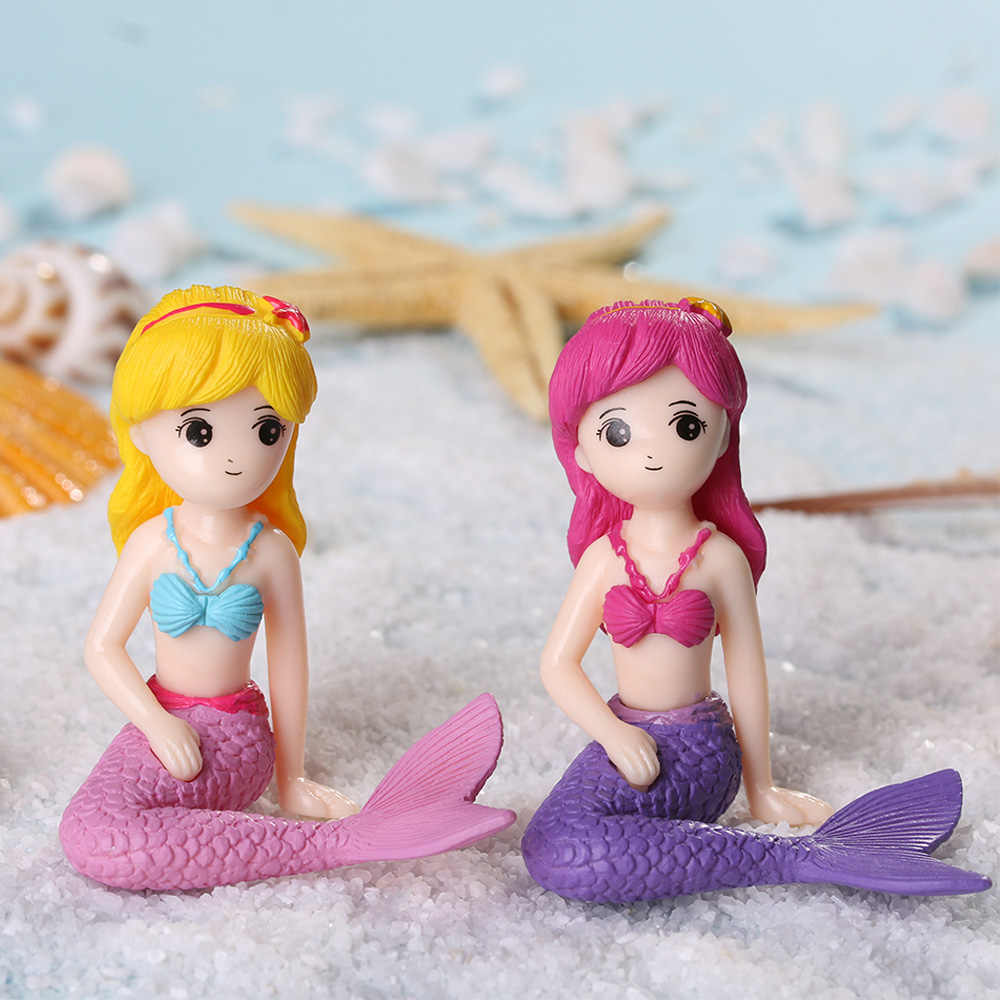 1PC Dollhouse Mermaid Figurines Ornament Micro Landscape Toy Cake Fairy Garden Princess Doll Toys Girls Gifts Home Decor