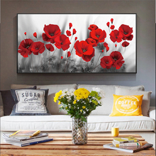 5D Diamond Painting Red Flowers Bright Poppies Flower DIY Diamond Embroidery Cross Stitch Mosaic Art Wall Pictures Home Decor