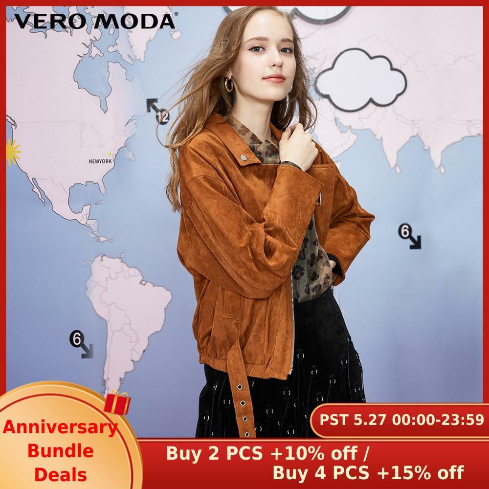 Vero Moda Women's Ins Style Streetwear Motorcycle Straight Fit Short Jacket | 319317514