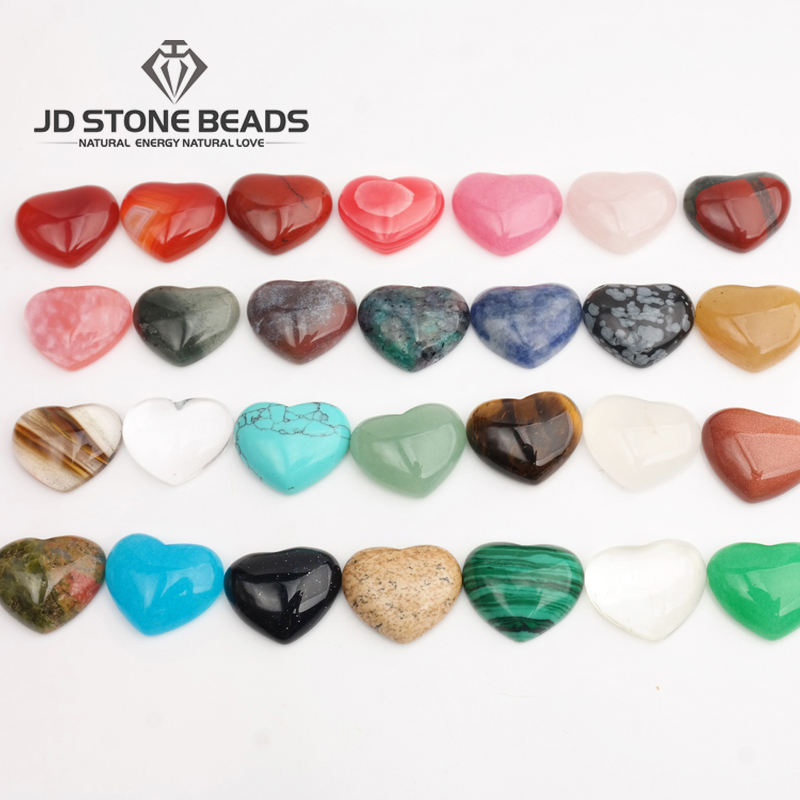 Wholesale Price Natural Stone Agate Quartz Pink Heart Shape Cabochon Stone Beads Fashion Accessories Gemstone Free Shipping