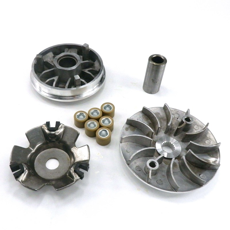 Motorcycle Variator Set With Roller Fan Clutch For Gy6 125 150cc Scooter Engine Moped Atv  Minarelli  Go Kart Parts