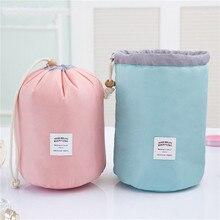 Vogvigo Dream Waterproof Barrel Travel Cosmetic Bag Nylon Wash Dressing Box Storage Toiletry Large Capacity