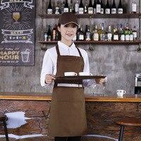 Gorący kociołek fartuch gości dla restauracji kuchnia wodoodporny sklep herbaciany reklama fartuch odzież robocza w Zarękawki od Dom i ogród na