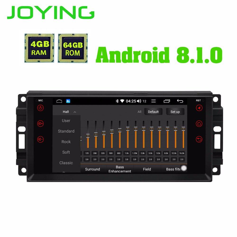JOYING 4GB RAM Android 8.1 Car Audio HU stereo for JEEP WRANGLER Radio GPS system for Grand Cherokee head unit for Dodge Avenger