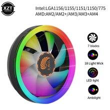 цена на CPU Cooler Radiator Led Heat Sink AMD Intel Silent 3Pin PC CPU Cooling Cooler Heatsink Fan LGA/115X/775/AM3/AM4