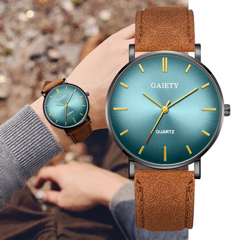 GAIETY Fashion Simple Casual Men Multicolor design dial Watch Business Leather With Strap Successful people Men Watch L0829 фото