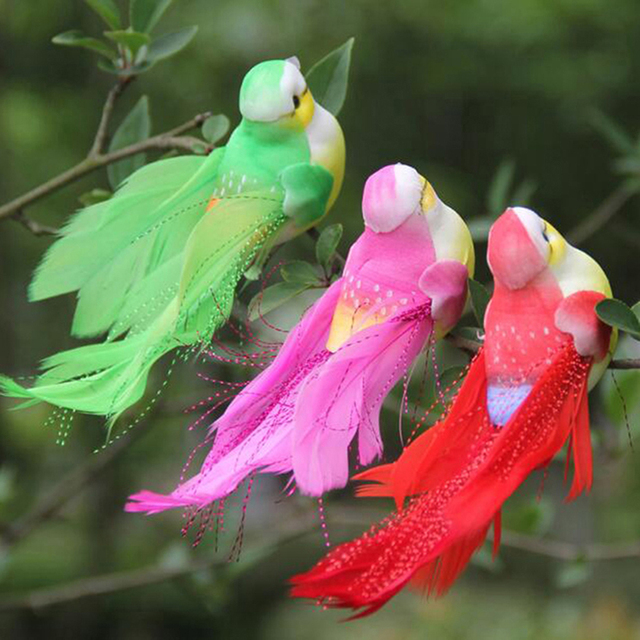 Lovely Artificial Bird Foam Feather Colorful Mini Craft Birds DIY Home Emulation Decoration Bird Model 5
