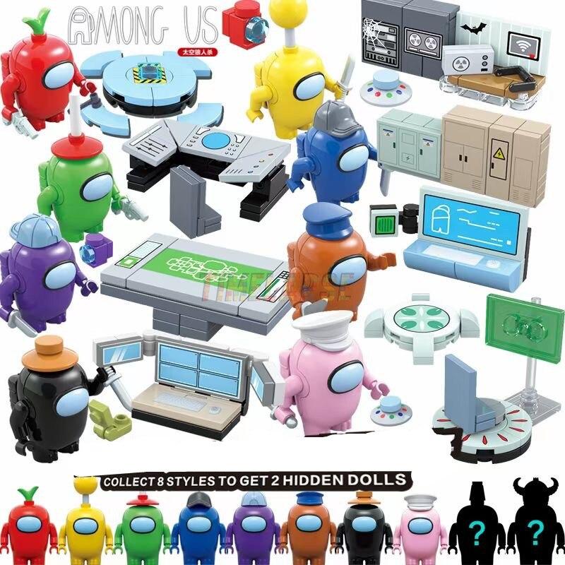 MOC 10 фигурок/комплектов 2021, новинка среди игр, Космический Инопланетянин, плюшевый Аватар, строительные блоки, классические модели, кирпичи, ...
