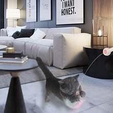 Интерактивная игрушка с перьями для кошки автоматические телескопические