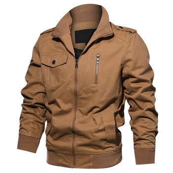 Autumn Men's Jackets Military Coats Cotton Army Outerwear Casual Male Bomber Jacket Mens Brand Clothing 6XL J6T601
