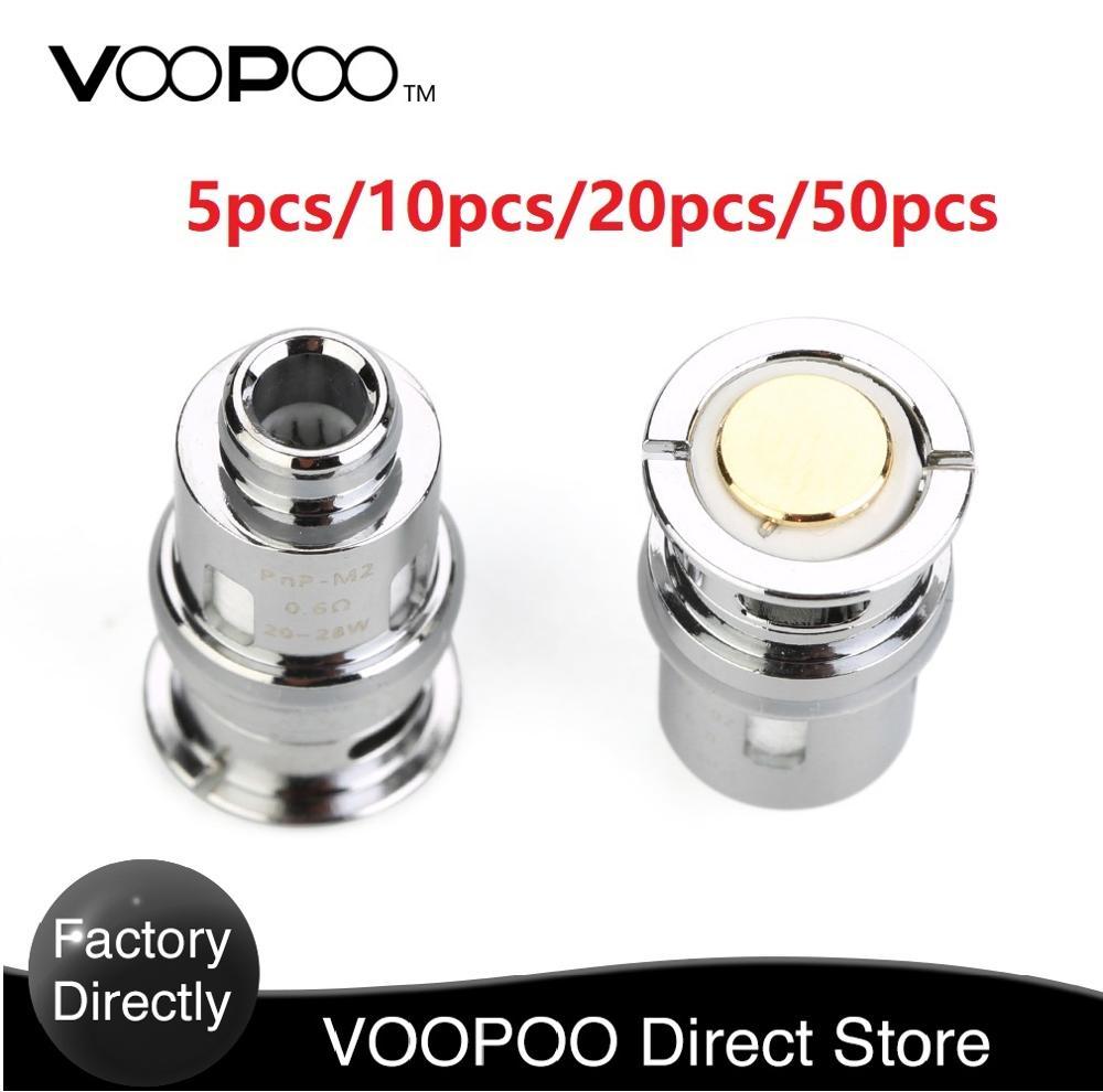 ¡5-50 Uds! bobina PnP de VOOPOO Original con PnP-M2 de 0.6ohm y PnP-R1 de 0.8ohm y PnP-C1 1.2ohm bobina de Vape para Drag Baby Trio Kit