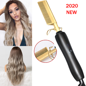 Heating Comb Straightener Hair Iron Curling Smoothing Brush Corrugation for Hair Curler Professional Hair Straightener Hot Comb