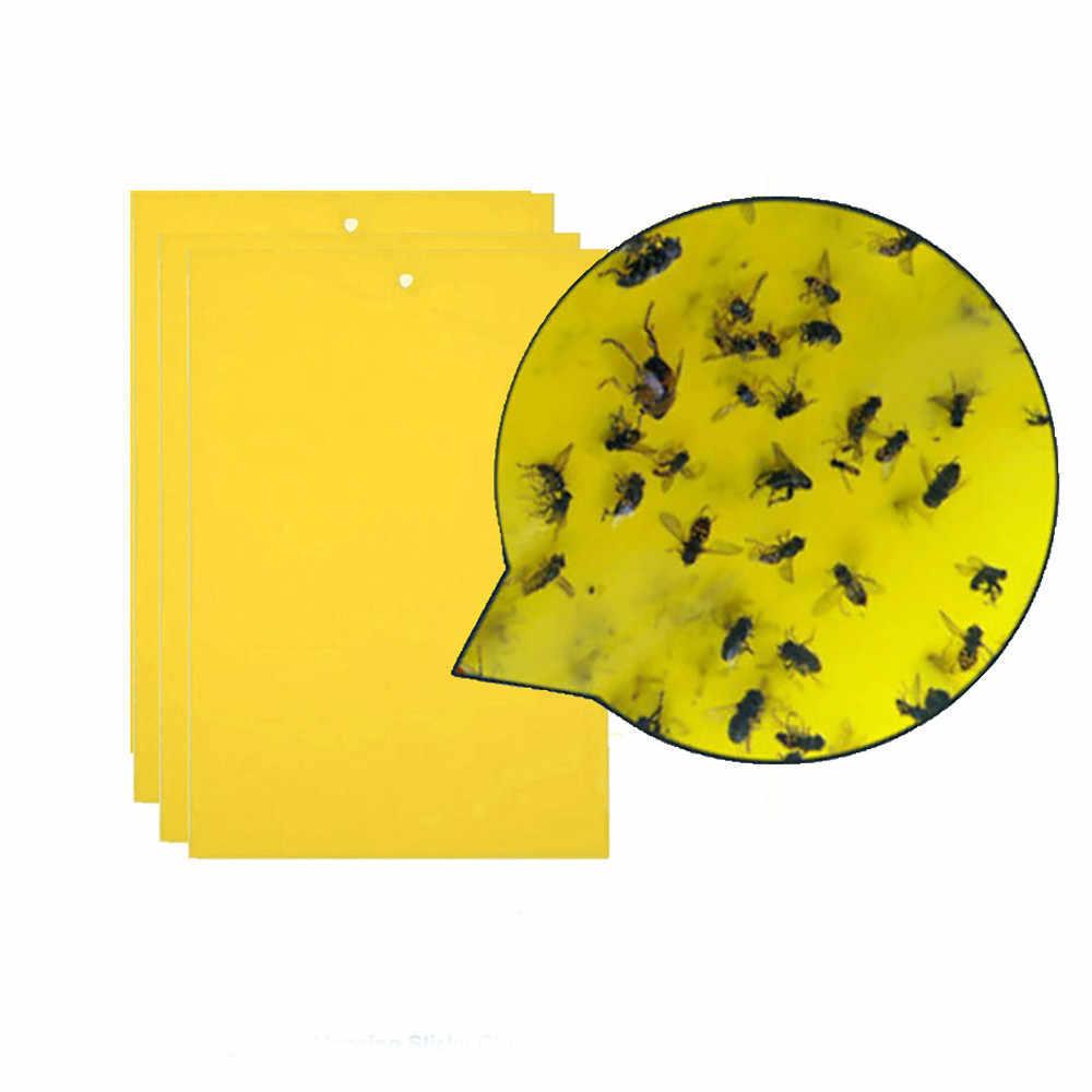 20/10pcs แมลงวันกับดัก Bugs Sticky BOARD จับเพลี้ยแมลง Pest Killer กลางแจ้ง Fly TRAP สำหรับเพลี้ยเชื้อรา GnatsLeaf