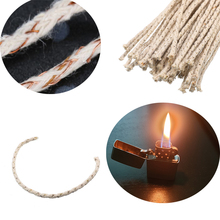 10 pcs/pack Copper Wire Cotton Core Wick for Zippo Kerosene Oil lighter accessories Petrol Lighter Fire Starter Replacement Bulk стоимость
