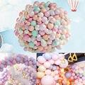 100 шт./лот, упаковка из 100 макаронов, яркие вечерние воздушные шары, набор пастельных латексных шаров, новые популярные вечерние свадебные ак...