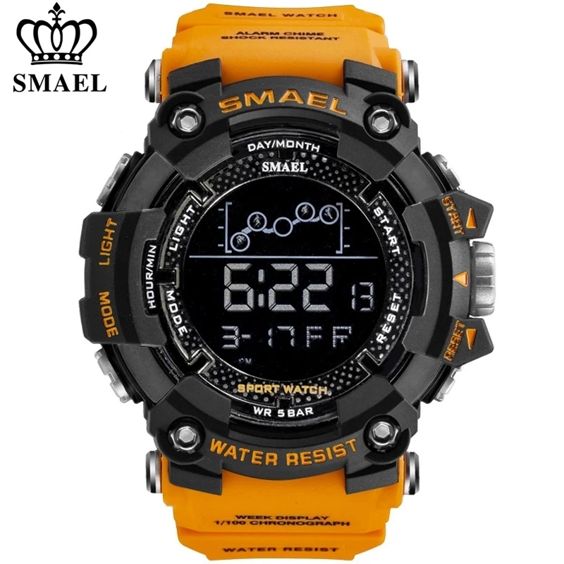 SMAEL Mens Watch Military Waterproof Sport Wrist Watch Digital Stopwatches For Men 1802 Military Watches Male Relogio Masculino Digital Watches  - AliExpress