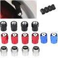 4 шт. алюминиевые колпачки для стержней клапанов автомобильных шин для SEAT Leon Ibiza Alhambra Niva Kalina Priora Granta автомобильные аксессуары