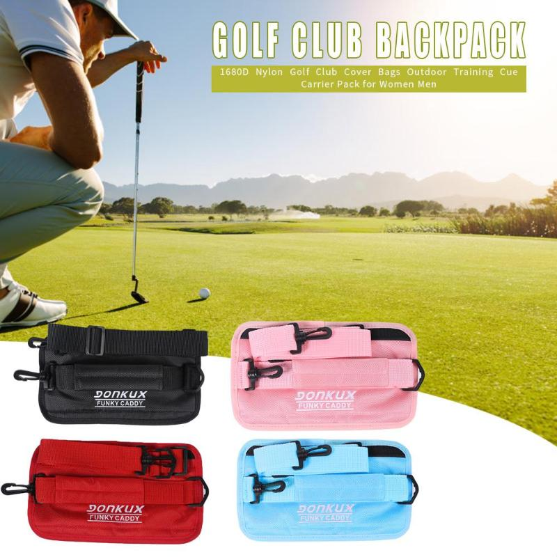 Outdoor Practice Cues Carrier Packs 1680D Nylon Portable Golf Club Cover Bags Can Accommodate 1-4 Clubs High-capacity