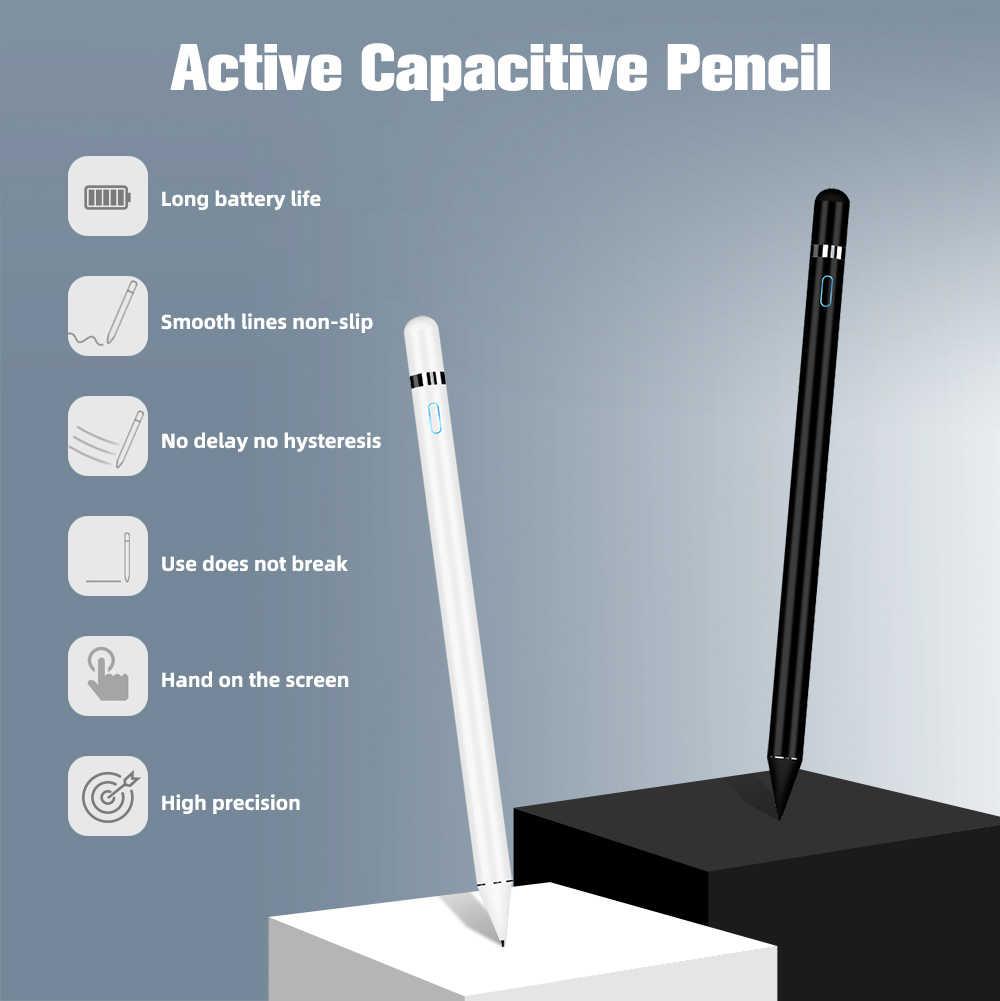 Hoạt Động Stylus Dành Cho Máy Tính Bảng Vẽ Bút Cảm Ứng Dành Cho Smarthone Bút Chì Dành Cho Apple iPad Pro 1 2 Máy Tính Bảng Android Không Trễ bút Cảm Ứng Kiêm Bút Ký
