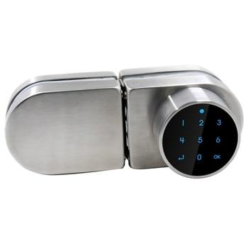 Password Smart Door Lock, Sliding Glass Door Lock for Office Glass, Keyless Digital Electronic Lock, Code RFID Card