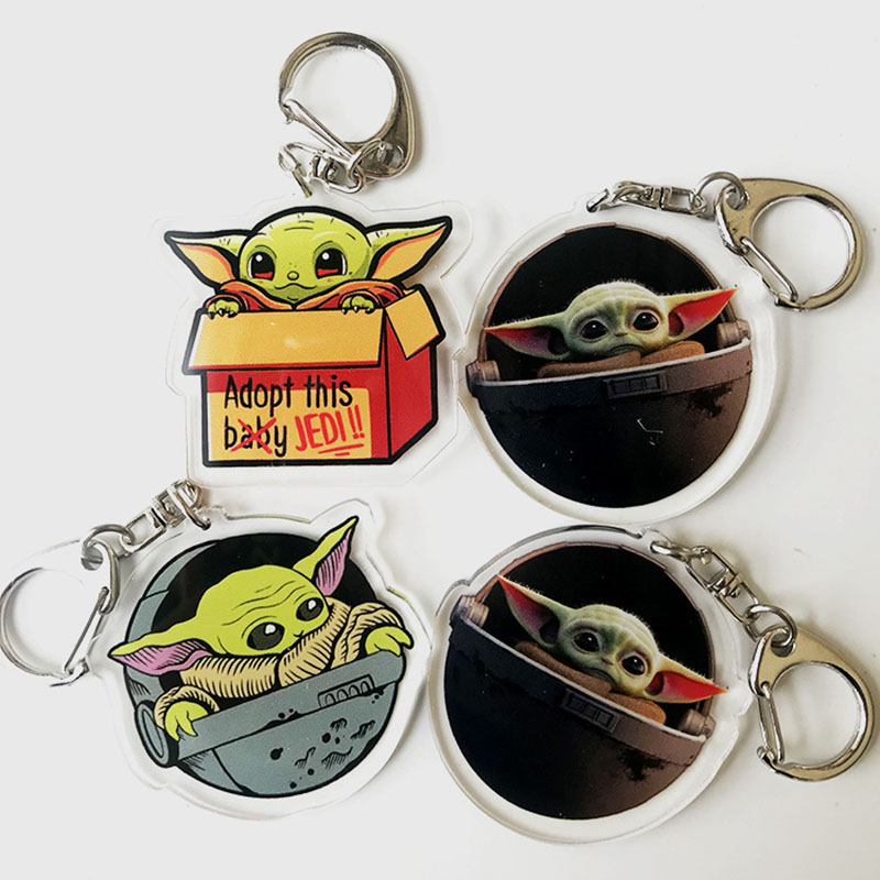 Cute Baby Yoda Keychain Star Wars The Rise Of Skywalker Keyring Men Women Fashion Anime Jewelry Key Chains Gift