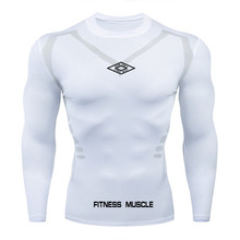 Najnowsza koszulka do biegania mężczyźni kulturystyka sportowa koszulka z długim rękawem Top ze ściągaczem Gym T Shirt Men Fitness Tight tshirts