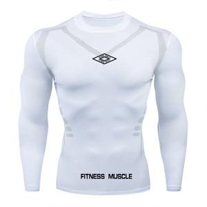Image 1 - Newst Running Shirt Men Bodybuilding Sport T shirt Long Sleeve Compression Top Gym T Shirt Men Fitness Tight tshirts