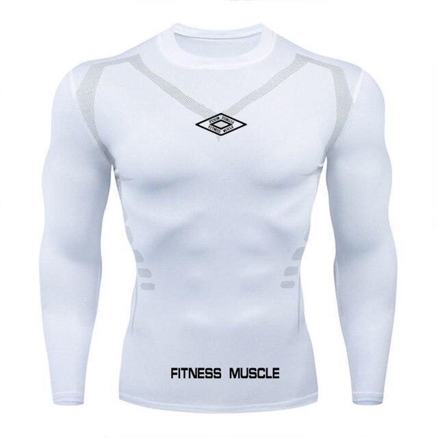 Newst Running Shirt Men Bodybuilding Sport T shirt Long Sleeve Compression Top Gym T Shirt Men Fitness Tight tshirts
