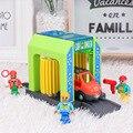 Игрушечный автомобиль мойка рельс Набор Железнодорожный трек игрушка Строительный блок Набор грузовиков детские игрушки совместимый дере...