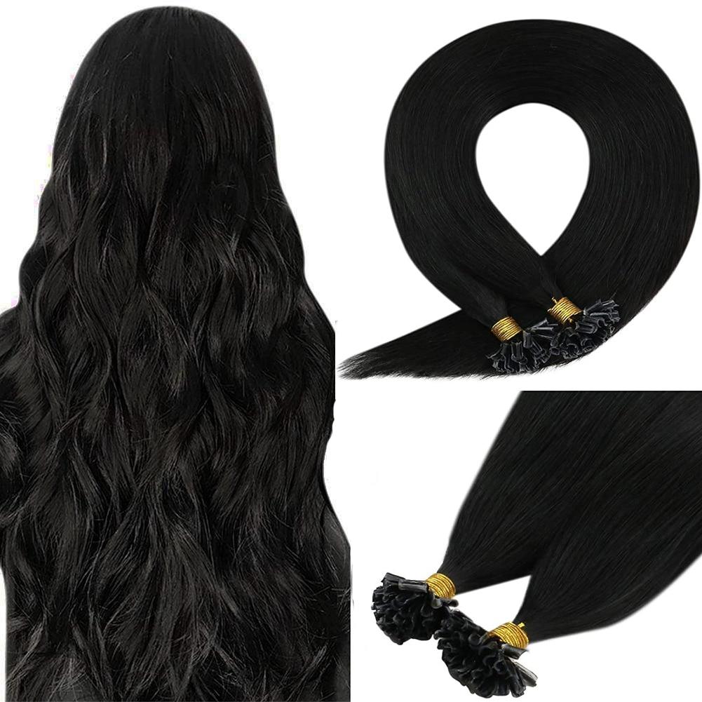 VeSunny Nail Tip Keratin Human Remy Hair Extensions Pre Bonded Keratin U tip Hair Extensions 1gr/strand 50gr per set