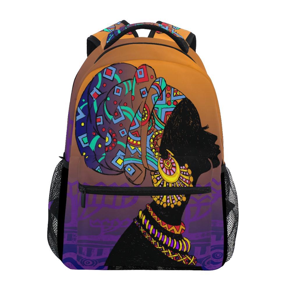 ALAZA Fashion Backpacks African Woman Print School Bags For Teenager Boy Girls Children School Bag Kids Bookbag Women Backpack