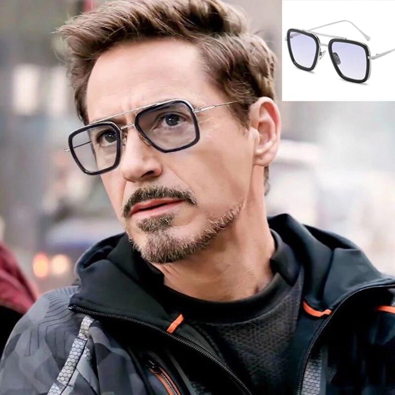 New Fashion Sunglasses Avengers Tony Stark  Brand Design Classic Flying Style Sunglasses Avengers UV400 Gafas De Sol
