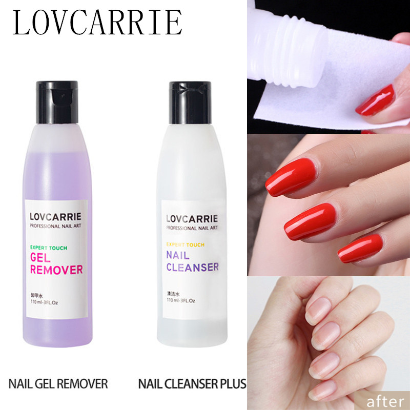 110ML Gel Nail Polish Remover Nail Degreaser Cleansing Plus Acetone Soak Off Gel Remover Nail Cleanser for Nails Alcohol Wipes
