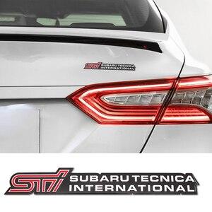 1 Uds pegatina de coche Logotipo de STI insignia Auto accesorios pegatina para SUBARU LEGACY Forester Outback Rally WRX XV Impreza emblema