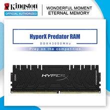 Ram ddr4 3000mhz 8gb 16 1.2v cl15 da memória do predador de kingston memoria xmp hyperx para o desktop