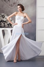 free shipping sho-me 2017 dress formal gown floor-length open leg crystal beding custom size/color white bridesmaid dress dress free shipping 2013 open leg custom size color sexy evening formal prom gown sweet beauty pageant ruffle dress new high low