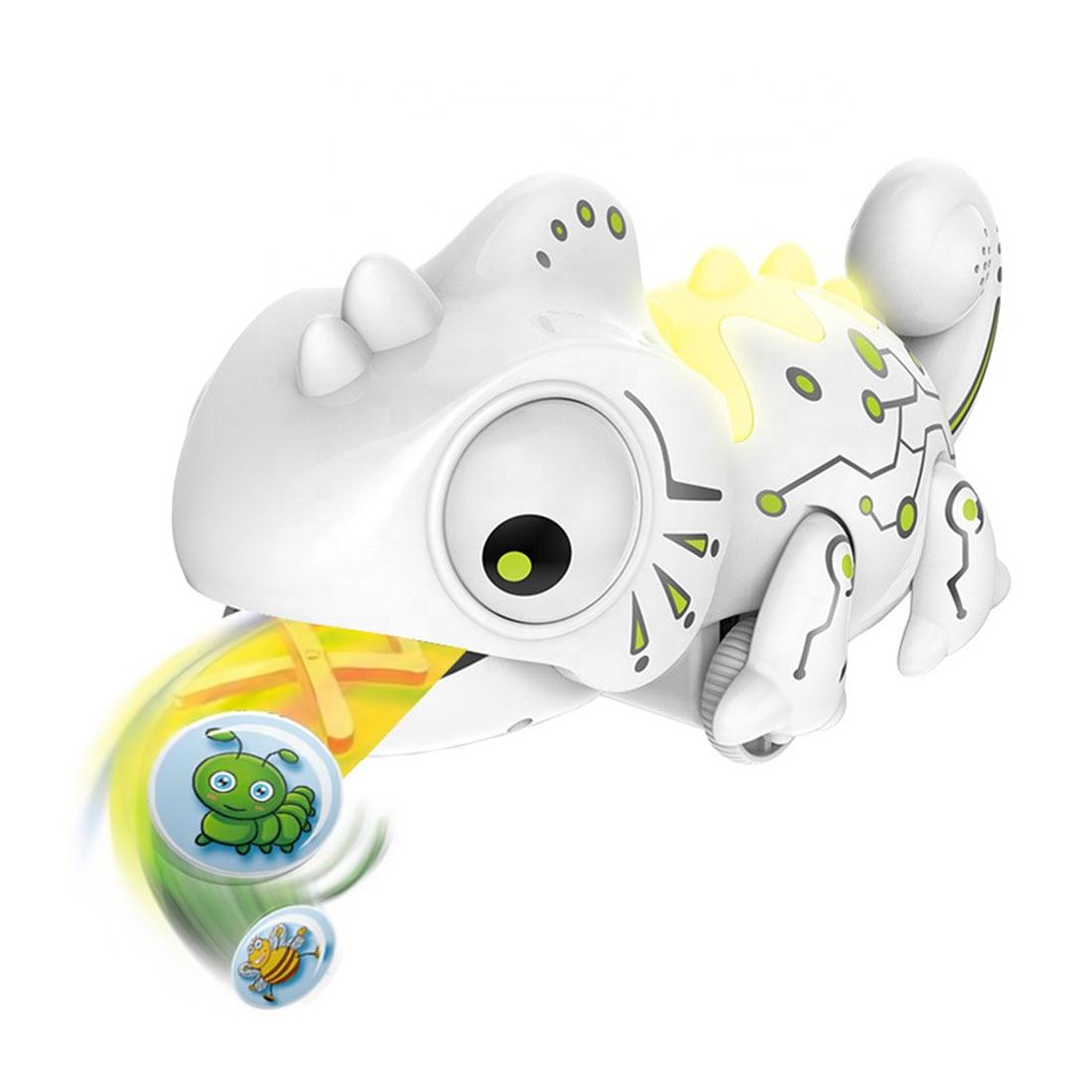 RC Хамелеон ящерица животное 2,4G умный симулятор животное Робот детский подарок забавные игрушки Музыка Цвет сменный пульт дистанционного у...