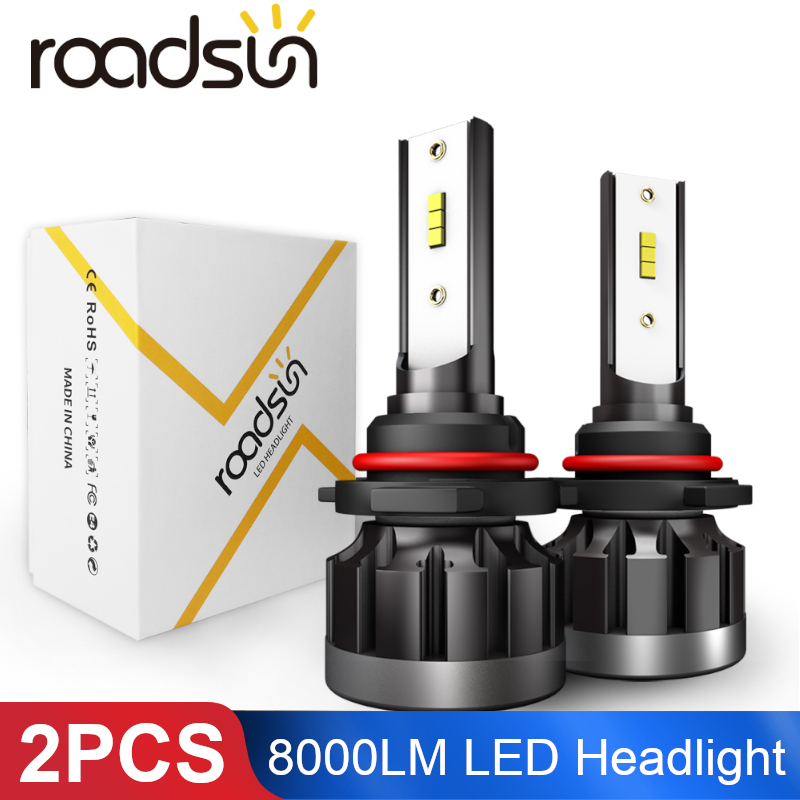 2PCS 80W 6000K 8000LM Car Light Bulb H1 H4 H7 Car <font><b>LED</b></font> Headlight H3 HB3 9005 HB4 9006 9003 H8 <font><b>H9</b></font> H10 <font><b>LED</b></font> <font><b>Canbus</b></font> Headlight Bulbs image