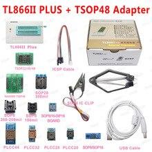 XGECU 100% Original Minipro TL866ii PLUS USB Programmer +13 Adapter With TSOP48 NAND Adapter TL866ii Universal Bios  programmer