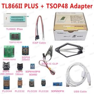 Image 1 - XGECU 100% Original Minipro TL866ii PLUS USB 프로그래머 + TSOP48 NAND 어댑터가있는 13 어댑터 TL866ii 범용 Bios 프로그래머