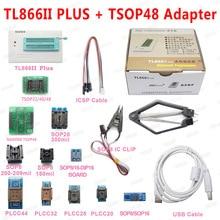 XGECU 100% orijinal Minipro TL866ii artı USB programcı + 13 adaptörü ile TSOP48 NAND adaptörü TL866ii evrensel Bios programcısı