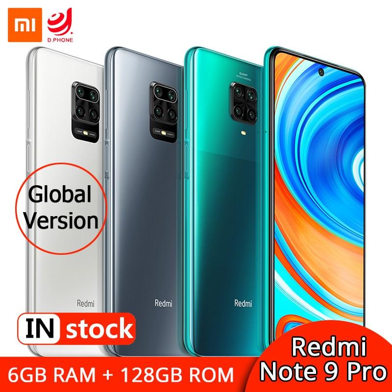 "Xiaomi Redmi Note 9 Pro 6GB 128GB Global Version Smartphone Snapdragon 720G Octa Core 64MP Quad Camera 6.67"" Screen 5020mAh NFC"