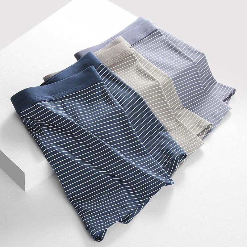 Комплект мужских трусов из хлопка, пикантное нижнее белье для мужчин, боксеры, шорты