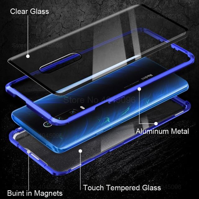 360 Magnetic Phone Case For xiaomi mi 9t Double Sided Glass Cases On Xaomi 9t pro mi 9t 9tpro t9 t9pro mi9t Metal Cases Coque 2