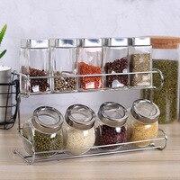 Kitchenware Glass Condiment Bottle Salt Tank Condiment Bottle Set Receiving Box Combination