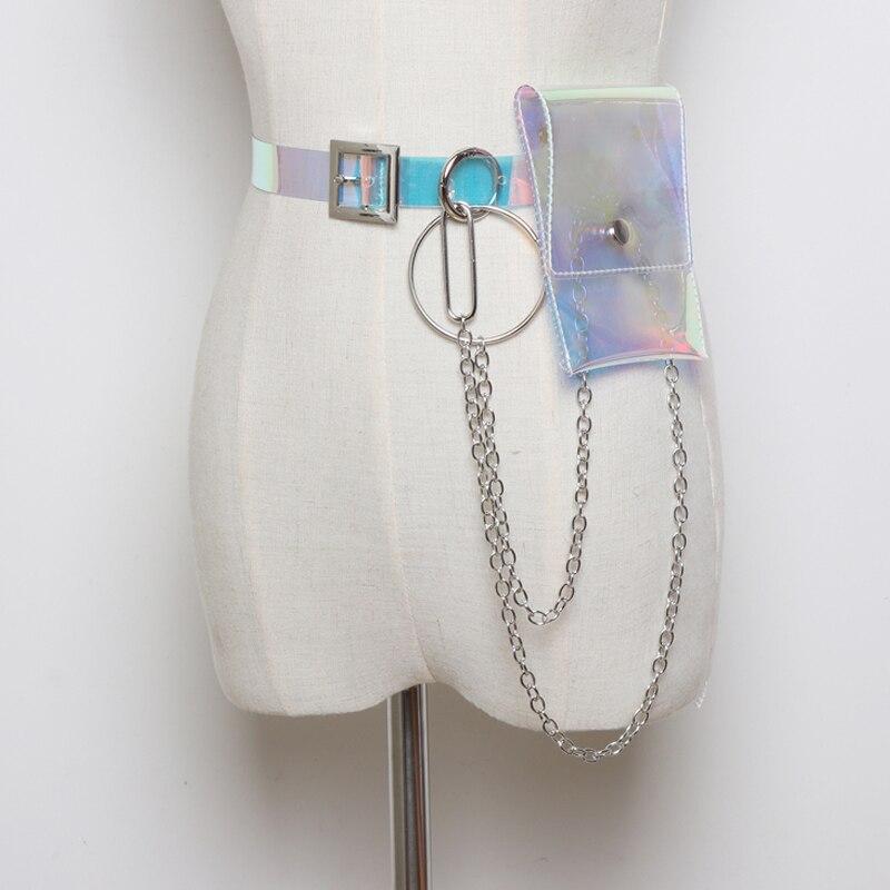 Модные маленькие поясные ремни в стиле панк-рок Харадзюку, сумка-кошелек, бандаж в стиле панк, пояс с металлической кисточкой, мини-цепочка, женский ремень в стиле панк 104 - Цвет: A2