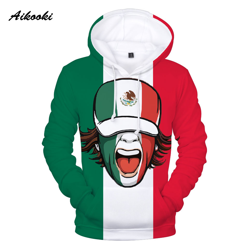 Mens Hoodies National Flag of The World Fashion Pullover Hooded Print Sweatshirt Jackets