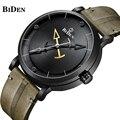 Бренд biden мужские спортивные часы большие мужские Модные Военные крутые водонепроницаемые кварцевые часы с кожаным ремешком наручные часы ...