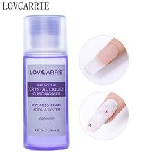 LOVCARRIE Professional Nail Acrylic Liquid Monomer 118ml Crystal Slip Solution Powder Systems for DIY Art